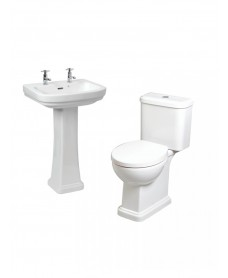 RAK Decor Toilet and 2TH Wash Basin Set