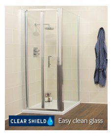 Kyra Range 900 x  700mm Bifold Shower Door