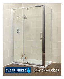 Kyra 1100 x 900mm Pivot & Inline Shower Door