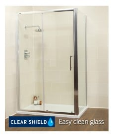 Kyra Range 1500 x 700 sliding shower door