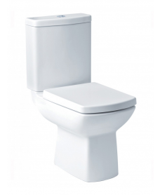 Zara Close Coupled Toilet with Soft Close Seat - ECO Flush