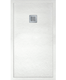 IMPACT 1400 x 800 Shower Tray White - FREE shower waste