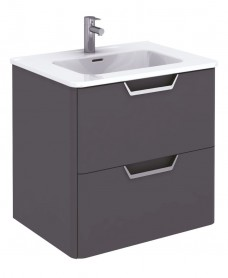 Metz Anthracite 60 cm Wall Hung Vanity Unit and Basin