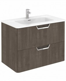 Metz Ash 80 cm Wall Hung Vanity Unit and Basin