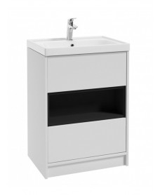 Valencia 60cm Matt White Vanity Unit & Basin