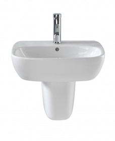 Twyford Moda Basin 60cm & Semi Pedestal - ** SPECIAL ORDER - PLEASE CALL TO ORDER