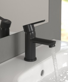 Nena Black Cloakroom Basin Mixer with FREE Click Clack Waste