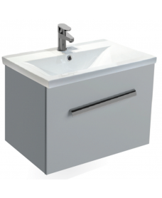Vanore Pearl Grey Slimline 60cm Wall Hung Vanity Unit ** Further Reductions**