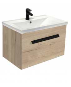 Vanore Halifax Oak Slimline 60cm Wall Hung Vanity Unit ** Further Reductions**