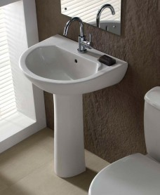 Twyford Option Basin 55cm & Pedestal (1TH)