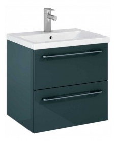 Soho Plus 60cm Gloss Grey Vanity Unit with Basin