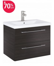 Soho Plus 60cm Hacienda Black Vanity Unit with Basin