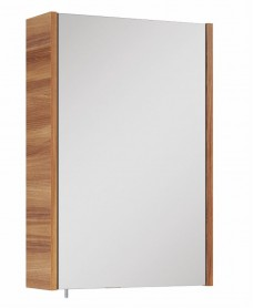 Soho Plus 42 cm Walnut Single Glass Mirror Cabinet