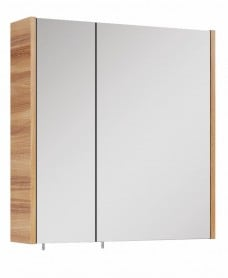 Soho Plus 60 cm Walnut 2 Doors Mirror Cabinet