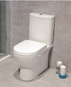 Nevada Fully Shrouded Toilet and Soft Close Seat - Multi Outlet