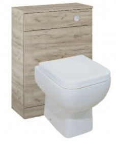 Paola Craft Oak Back to Wall Slimline Unit with Concealed Cistern
