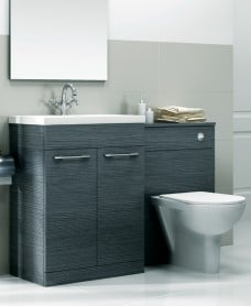 Paola Grey Slimline 50cm Combination Unit - 2 Door - 1120mm - with Toilet- **A Further 10% Off with Code JAN10