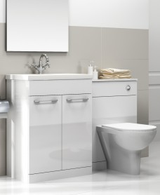 Paola White Slimline 50cm Combination Unit - 2 Door - 1120mm - With Toilet