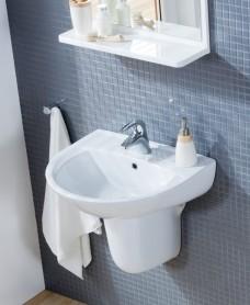 Modena Basin 55cm & Semi Pedestal