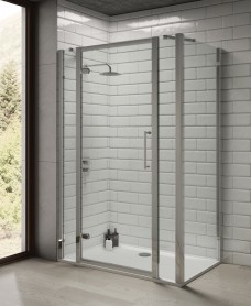 Rival 8mm 1300 Hinge Shower Door with Double Infill Panel & 760 mm Side Panel