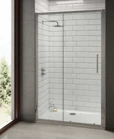 Rival 8mm 1500 Sliding Shower Door - Adjustment 1440-1500 mm