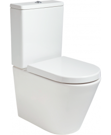 Roxy Fully Shrouded RIMLESS Toilet and Soft Close Seat