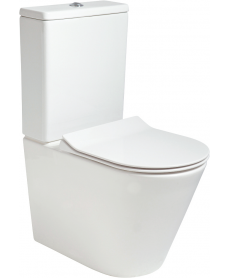 Roxy Fully Shrouded RIMLESS Toilet and Slim Soft Close Seat