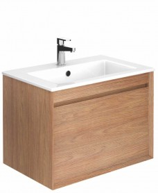 Regine Walnut 65 cm Wall Hung Vanity Unit and Basin
