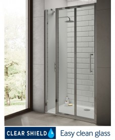 Rival 8mm 1200 Hinge Shower Door with Single Infill Panel - Adjustment 1140 - 1200 mm