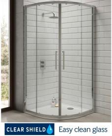 Rival 8mm 900 Quadrant Two Door Shower Enclosure - 850 - 880 mm