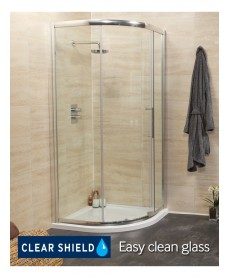 Rival 8mm 1000 Quadrant Single Door Shower Enclosure - 950 - 980 mm