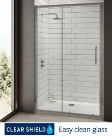Rival 8mm 1600 Sliding Shower Door - Adjustment 1540-1600 mm