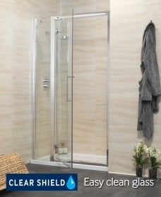 Rival 1000 Hinge Shower Door with Single Infill Panel - Adjustment 940-1000mm