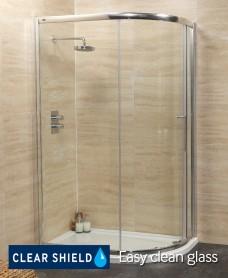 Rival 8mm 1200 x 800 Offset Quadrant Single Door Shower Enclosure