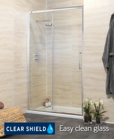 Rival Range 1100 Sliding Shower Door - Adjustment 1045-1100mm - *Special Offer