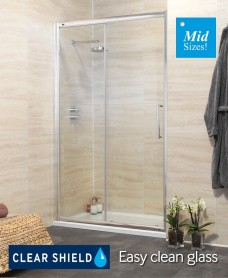 Rival 8mm 1050 Sliding Shower Door - Adjustment 990-1050 mm - A Further 10% Off with Code MAY10