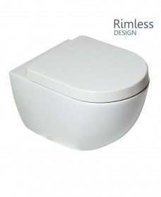 Darcy Rimless Wall Hung Toilet with Soft Close Seat - ** FURTHER REDUCTIONS Over 60% Off