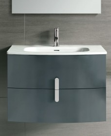 Contura Grey 80cm Vanity Unit 2 Drawer