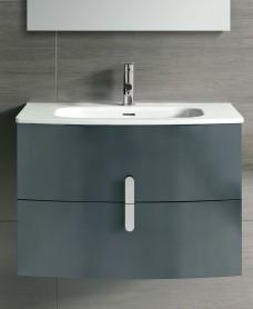 Contura Grey 80cm Vanity Unit 2 Drawer