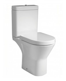 Resort Comfort Height Close Coupled Rimless Toilet & Soft Close Seat - An Extra 10% off with Code JAN10