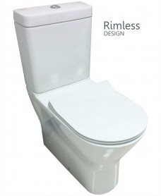 RAK Resort Comfort Height Fully Shrouded Rimless Toilet & SLIM Soft Close Seat