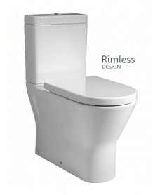 RAK Resort Close Coupled Fully Shrouded RIMLESS Toilet & Soft Close Seat