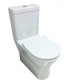 RAK Resort Close Coupled Fully Shrouded Rimless Toilet & SLIM Soft Close Seat