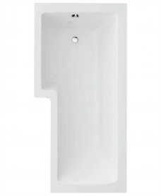 L Shape 1700 x 850 Left Hand Shower Bath with Bath Panel & Bath Screen