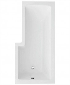 L Shape 1700 x 850 Right Hand Shower Bath with Bath Panel & Bath Screen