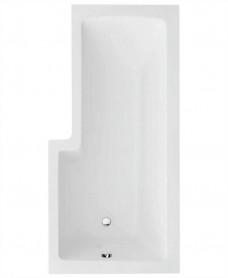 L Shape 1700 x 850 Right Hand Shower Bath with Bath Panel & Bath Screen