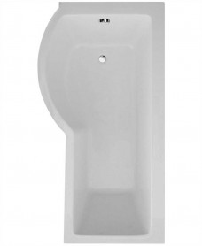 P Shape 1700 x 900 Left Hand Shower Bath with Bath Panel & Bath Screen