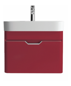 Aquiana Red Vanity Unit and Basin