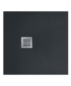 Slate 900 X 900 Shower Tray Black - With Free Shower Waste