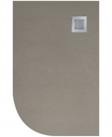Slate 1200X800 Offset Quadrant Shower Tray RH Taupe - Anti Slip